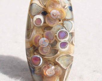 BIRYANI Handmade Lampwork Art Glass Focal Bead - Flaming Fools Lampwork Art Glass  sra