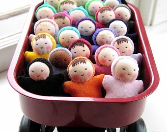 Party Favors for girls Waldorf dolls birthday party favor baby shower natural dolls Waldorf toys