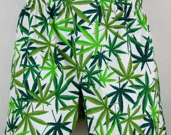 MARIJUANA cotton boxers - on White, LIMITED EDITION