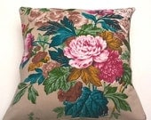 30 % OFF SALE NOVEMBER Vintage Textile Fabric Cushion.