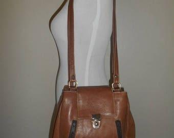 Closing Shop Sale 45% Off Vintage brown Leather Shoulder bag purse