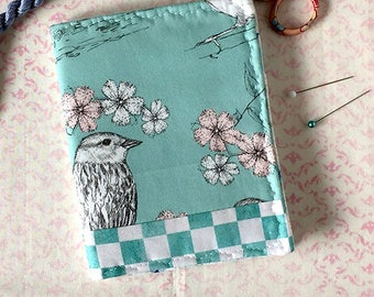 Bird Sketch Needle Case Pen and Ink Fabric Pin Keep