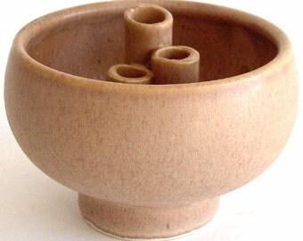 Ikebana Vase - Pecan Glaze