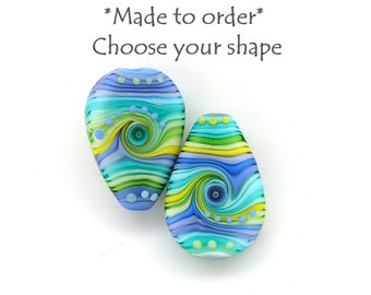 Michal S- Made to order Lampwork 1 bead SPRING colorway Choose your shape