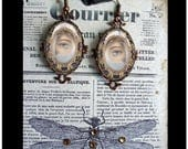Thru My Lover's Eyes, Victorian and Georgian inspired dangle earrings, altered art jewelry,romantic gifts, love, romance