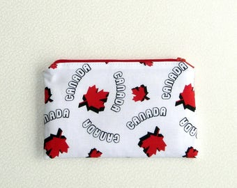 Small Zippered Notions Pouch - Canada