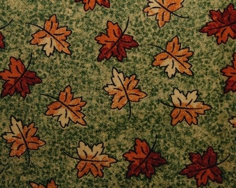 Leaf Print Fabric, Autumn Leaves, Fabric, Cotton Fabric, Sewing, Quilting, Sewing Fabric, Quilting Fabric, Oakhurst Textiles, By The Yard