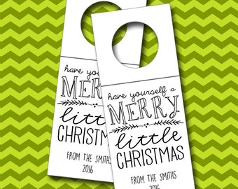 Have Yourself a Merry Little Christmas Wine Tags, Christmas Bottle Tags, Wine Tags - Set of 6