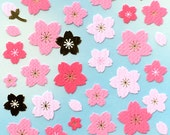 Cherry Blossom Stickers - Japanese Washi Paper Stickers - Chiyogami Flower Stickers - Cherry Blossom stickers -  (S101)