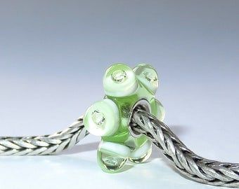 Luccicare Lampwork Bead - Spring Diamond Wheel - Lined with Sterling Silver