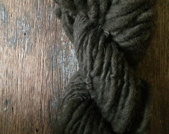 Mountain mint and copper naturally dyed handspun yarn,  36 yards, bulky weight art yarn, grey handspun yarn, plant dyed yarn, natural grey