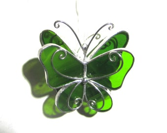 You Pick Any Color - 3D Stained Glass Butterfly Twirl - Mini Suncatcher Home Garden Hanging Christmas Ornament Home Decor (MADE TO ORDER)