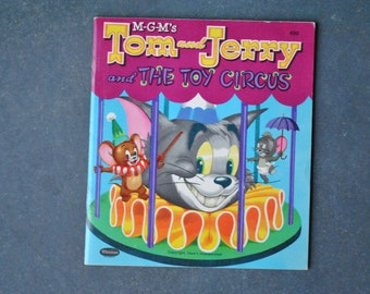 vintage tom and jerry book, tom and jerry and the toy circus, 1953