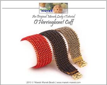 eTUTORIAL O Herringbone! Cuff
