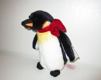 Plush Penguin by Russ - Vintage 90's New Old Stock with Tag - Cute Penguin Stuffed Animal Toy