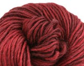 Brunswick Hand Dyed chunky weight 70/30 Corriedale wool Mohair blend yarn 140 yds 4oz Shiraz
