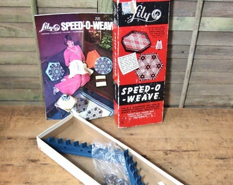 Free Shipping Vintage Speed O Weave Weaving kit in box with instructions Lily