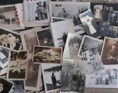 Approximately 300 Vintage Photographs black and white