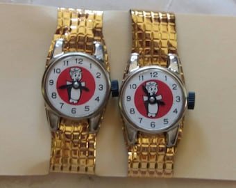 TWO Vintage Toy Play Watches