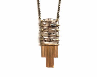 SALE  Agate Ladder Necklace