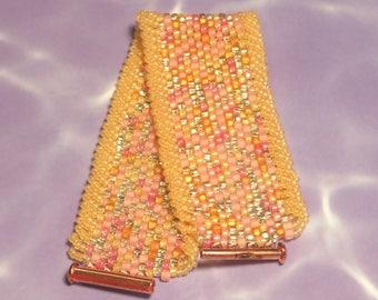 Pink Lemonade Seed Bead Bracelet