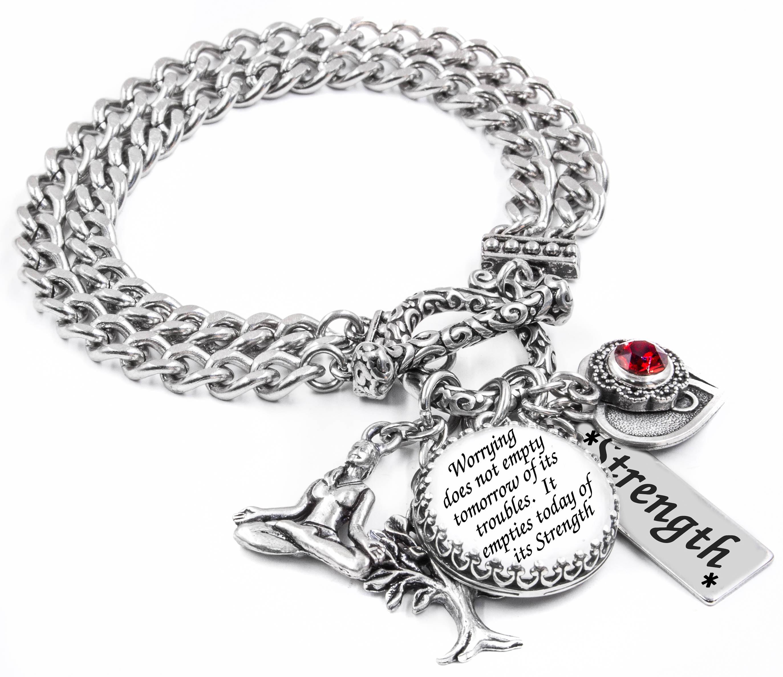 Inspirational Charm Bracelets: Inspirational Bracelet Quote Bracelet Word Jewelry Poem