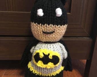 Batman plushie Batman amigurumi Batman toy Batman comfort doll
