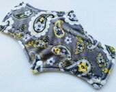 13 inch Natur-ELLE Overnight Soft Minky Reusable Cloth Pad Lemon Paisley