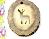 STAG PENDANT Antler Pendant Pierce Carved Deer Antler