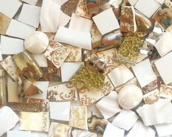 Mosaic Tiles- Dazzling Mix -Gold 100 Tiles-Custom design