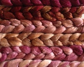 Hand Dyed gradient roving set 6ozs polwarth mulberry silk 70/30 ready to ship