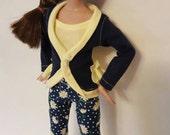 """OOaK SASSY SPRINGTIME set BLUE for Agatha Primrose 13"""" Tonner fashion body"""