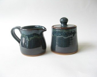Pottery Cream and Sugar Set