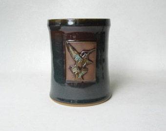 Utensil Holder with Hummingbird Design