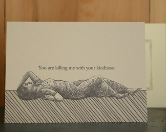 Kindness - letterpress thank you card