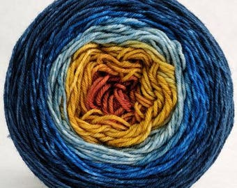 Mischief Managed Panoramic Gradient, dyed to order - pick your yarn and yardage!