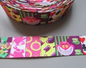 Alice in Wonderland 2.5cm Grosgrain Ribbon x 1 metre