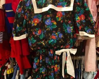 1980s Polly Flinders Dress Girls 10/12