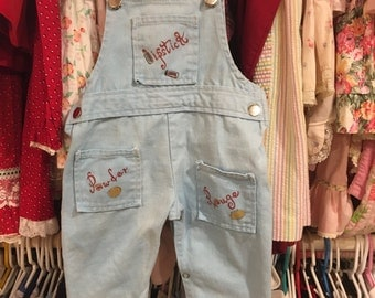 1970s Baby Overalls 9/12 Months
