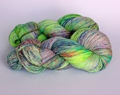 FIREFLY, purple label hand dyed cashmere sock yarn - dyed to order