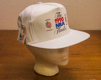 1990 NBA Finals Snapback Hat - Portland Trailblazers - New Old Stock with tag