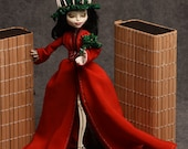 Holly! A OoaK Custom Monster High Skelita Doll Repaint and Redress for the Holidays by awsumgal