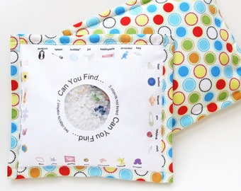 Large I Spy Bag Travel Toy - Polka Dots