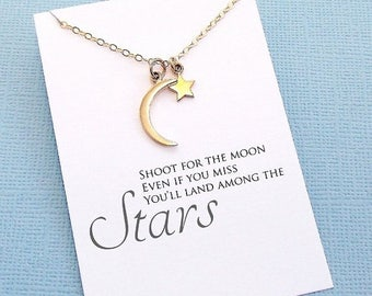 SALE - Graduation Gifts | Crescent Moon Necklace, Graduation Gifts, Student Gifts, Class of 2017, Graduation Gifts, College Student Gift | G