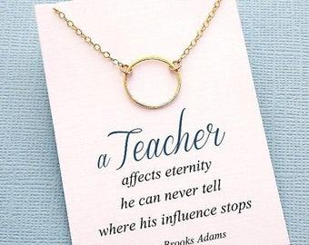 SALE - Mentor Teacher Gift | Eternity Necklace, Teacher Gifts, Mentor Gift, Karma Necklace, Mentor, Mentor Appreciation, Mentor Teacher Gift