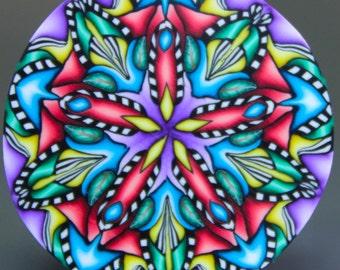 LARGE Polymer Clay Kaleidoscope Cane -'Grand Adventure' (15dd)