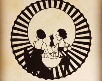 Original Papercut: Vanity Skull