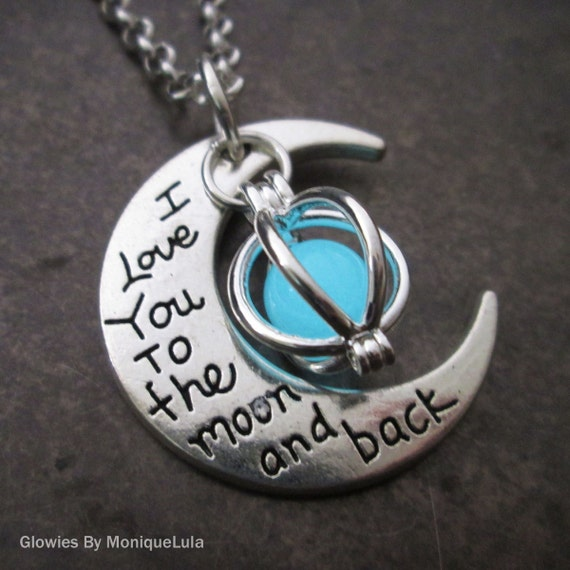 Glowing Orb Love You To The Moon and Back Necklace