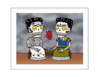 Dos Fridas Archival Art Print 8 x 10