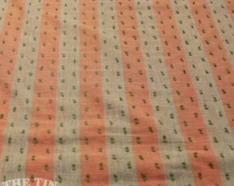 Dotted Swiss Striped Cotton - 1 Yard - Cotton Fabric / Fabric by Yard / New Fabric / Sewing Supplies / Dotted Swiss / Apparel Fabric